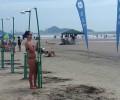 Sanepar instala duchas nas areias de Pontal do Paraná