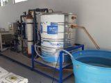 Praia de Leste recebe projeto-piloto de tratamento da água do mar